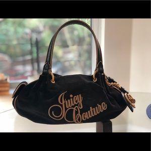 Juicy Couture Black Velour Purse